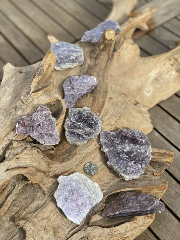 Lepidolite Slices (Thick) with 5p