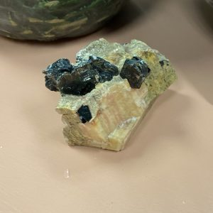 Biotite in Calcite Crystal