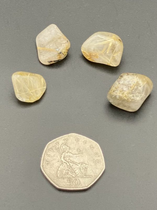 Rutilated Quartz Crystal with 50p