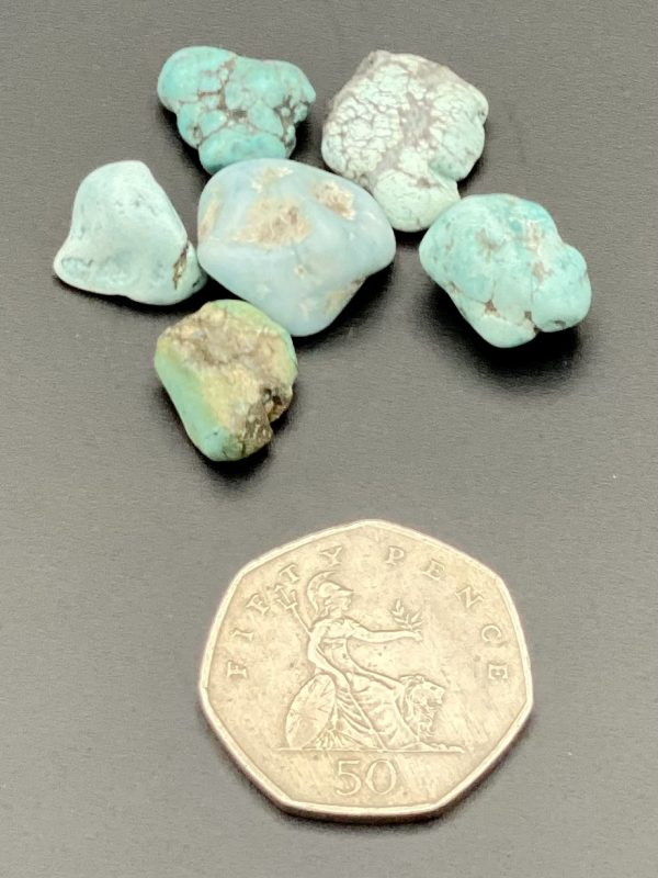 Turquoise Crystal with 50p